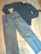 CATIMINI, Pantalon velours beige - IKKS, t-shirt gris - Taille 12 ans - TBE !!!