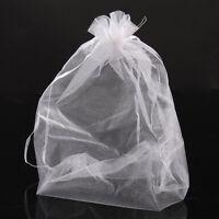 Wholesale Market 20x30cm Organza Gift Bags & Pouches Wedding Favor White