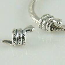 SNAKE-SERPENTE-Animal-Originale Massiccio 925 argento Sterling Charm Bead Europeo