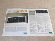 Sansui AU-6500 Amplifier Brochure, 2 pg,Specs,Info,1973