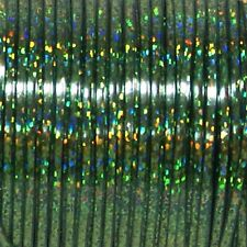 50 YARDS (45m) SPOOL GREEN HOLOGRAPHIC BRITELACE REXLACE PLASTIC LACING CRAFTS