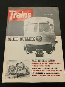 July 1966  Trains Magazine Brill Bullets