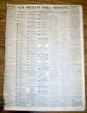 1857 New Orleans Crescent LOUISIANA newspaper w3 ADs-SLAVE DEPOT & Slaves 4 Sale