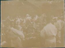 France, Spectacle donnée par les troupes ca.1897 vintage citrate print Vintage c
