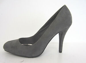Anne Michelle F9R757 Ladies Grey Microfibre High Heel Court Shoe UK3 to 7 (R25A)