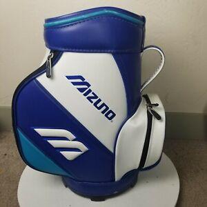 Mizuno Golf Staff Bag Caddie White/Blue Leather Vintage