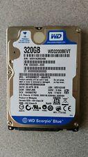 "WD SCORPIO BLUE WD3200BEVT 320GB SATA 2.5"" HDD Hard Drive 100% HEALTH WIPED"