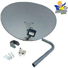 New 80cm Zone 2 Sky Satellite Dish & MK4 Quad LNB For Freesat HD Polesat Hotbird