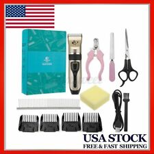 Pet Cat Dog Hair Clipper Electric Trimmer Hair Cutting Usb Grooming Machine Us