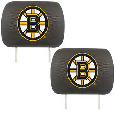 Hockey Team Boston Bruins Head Rest Covers Universal Fit - Set Of 2