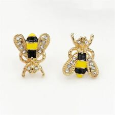 Gift Lovely Insect Women Girl Rhinestone Ear Studs Jewelry Earrings Ear Clip