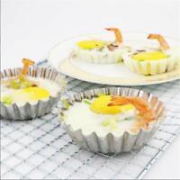 6PC Mini Tart Mold Shell Cupcake Cake Cookie Tin Baking Tool Muffin Steel Pan Q
