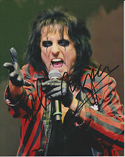 ALICE COOPER Rock Legend SIGNED 8X10 Photo c Hey Stoopid I Never Cry PROOF