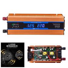 2600W Power Inverter Car Inverter Converter Charger DC 12V To AC 220V Cable Kit