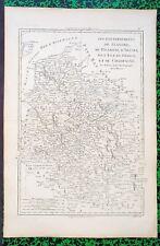 XVIII  Carte Gouvernements Flandre Picardie Artois Ile de F Champagne Bonne 1780