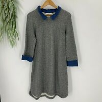 Kenneth Cole Reaction Women's Sweatshirt Shirt Dress Size L Gray Pullover Casual