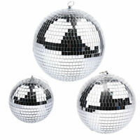 "6-10""Large Mirror Glass Disco Ball DJ Dance Home Party Bands Club Stage Lighting"