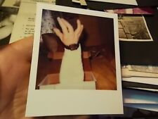 VINT COLOR POLAROID SNAPSHOT PHOTO, HAND COMES UP FOR AIR OUT OF BOX,  BIZARRE!