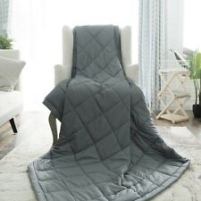 Weighted Blanket Medical Therapy Grey Adults 8-9 kg, Removable/Washable Cover
