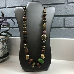 Women/'s Beaded Necklace Statement Necklace Wooden Bead Necklace Colourful Necklace Wooden Jewellery Bib Necklace Gift For Her