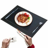 """Placemats Set of 6 Heat-Resistant PVC Table Mats Woven Vinyl Place mats, 18""""x12"""""""