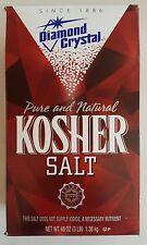 3 lbs Diamond Crystal Kosher Salt,Gourmet Choice,cooking,Seasoning,Pure,Natural