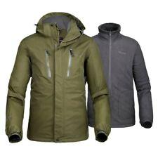 OutdoorMaster Mens 3-in-1 Ski Jacket - Winter Jacket Set with Fleece Liner Green
