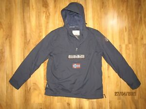 Napapijri Rainforest lightweight anorak Jacket In navy blue size XXL 2XL