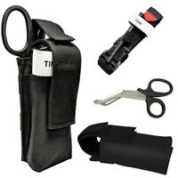 Rapid One Hand Application Emergency Tourniquet + Trauma Shear+ Molle Pouch