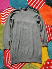 Topshop Size 10 Grey Jumper Dress