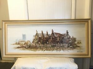 Very Large Vintage Oil Paintimg Framed And Signed George Clarke