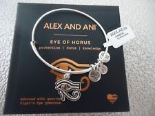 Alex and Ani  EYE OF HORUS NEW Russian Silver Charm Bangle W/ Tag Card & Box