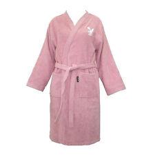 Playboy Bathrobe Large Light Pink Bunny Logo Long Towel Material Robe Clothing