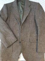 Harris Tweed Wool Vtg  Blazer 42 Chest Wool Jacket Dunn Co Thick