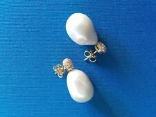orecchini in oro con perle coltivate e brillanti