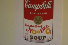 Andy WARHOL lithograph Georges Israel Leo Castelli New York N.Limited Campbell's