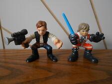 LUKE SKYWALKER / HAN SOLO action figure toy x2 STAR WARS Galactic Heroes 2001