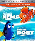 FINDING NEMO/FINDING DORY 2-MOVIE COLLECTION (BLU-RAY+DVD+DIGITAL) NEW + FREE SH