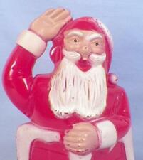 Santa Claus in Chimney Christmas Decoration Candy Container Hard Plastic 1950 LL