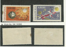 Albania, Postage Stamp, #C73 (Stain), C74 Mint Hinged, 1963 Space