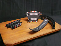 Carrera Slot Car Banked Curve Loop Track Lot Of Eight Pieces