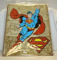 Superman Weathered Panels Comic Marvel Distressed Retro Vintage Metal Tin Sign