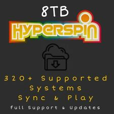 8TB Hyperspin Arcade For PC - 320+ Systems - Sync & Play - Updated December 2018