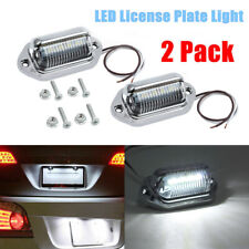 Universal Chrome 6 LED License Plate Tag Lights Lamps for Truck SUV Trailer Van