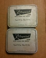 000 2 Vintage Ritepoint Liter Tins Visual Fuel Supply Signals The Eye Before Dry
