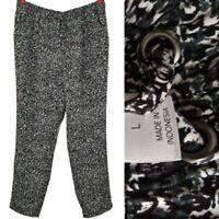 Christopher & Banks Womens Large Tapered Leg Pants Elastic Waist Cute Comfort