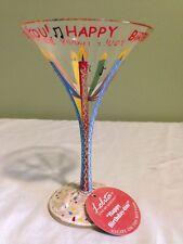 New listing Lolita Happy Birthday - tini Glass Handpainted Martini Glass