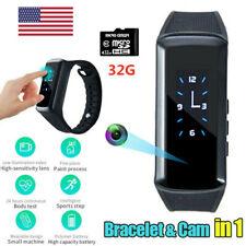 1080P HD Spy Mini Camera Wristband Hidden Video Camera Band Sport Bracelet Watch