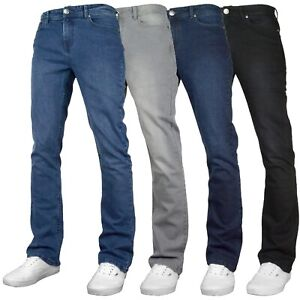 F&H Denver Mens Stretch Regular Fit Bootcut Wide Leg Denim Jeans All Waist Sizes