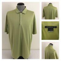 Tiger Woods Platinum Mens XL Green Stretch Golf Polo Snap Button Fairway Shirt